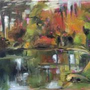 Lac en automne - 2014, Huile 39,5*30