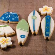 Surfboard koekjes
