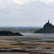 Mont saint Michel et tombelaine vue de la pointe de Champeaux