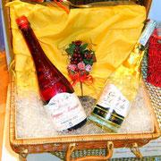 valigetta in vimini con grappe pregiate