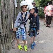 Klettern 7m Seilwand