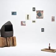 死んだ人の爪の森(The forest of people's nails)/2016/陶、木、土、ドローイング、スコップ(ceramic,wood,soil,drawing,shovel)