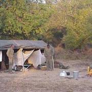 Campement de surveillance