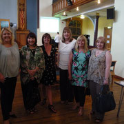 Posing with a few of my book group lovelies.