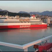 """Ankunft in Patras, hier """"Superfast V"""""""
