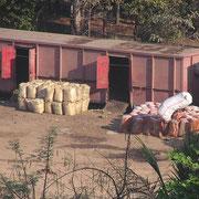 Güterverladung in Rangun.