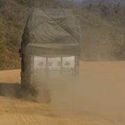 Auf der berüchtigten Burma Road in Richtung Norden zur chinesischen Grenze.