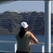 Wieder sind wir unterwegs, Abschied von Santorini.