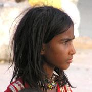 Mädchen in Benares.