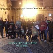 Prima foto della rifondazione della Sez. A.R.I. Canosa di Puglia 1 Dic 2012