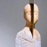 Messing im Kopf, Holz, Messing ( verkauft, Sammlung Hofgärtner)