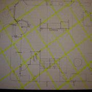 Plan de maison avec réseau Hartmann