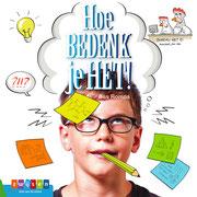 Illustraties voor 'Hoe bedenk je het!', informatief boek, tekst Bas Rompa, Uitgeverij Zwijsen 2018