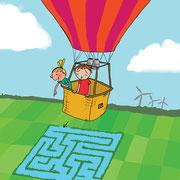 Illustraties voor kinderpagina NatuurBehoud (kwartaalblad Natuurmonumenten)