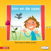 cover 'Kim en de vaas',  educatief leesboek,  tekst Bas Rompa, Zwijsen