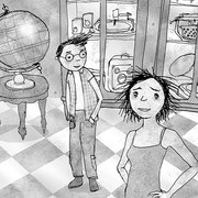 Illustratie uit 'Uitvinder Otto', geschreven door Bas Rompa, Uitgeverij Clavis