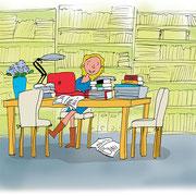Illustratie uit bedrijvenboek 'Repsodie, van A tot Z'