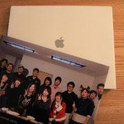 apple製のケース付き