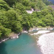 水のきれいな奥大井渓谷