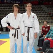 Simon partenaire de Yann et Yann médaille de bronze