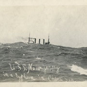ref.S70 -  8,5x13,5cm  -USS New jersey China sea 1909 - rppc- circa 1960 - 5/5