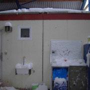 Schnee in unserer Halle