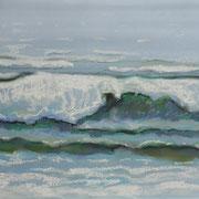 Gicht, Pastell 29 x 39 cm