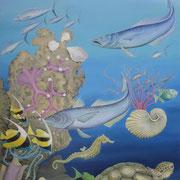 coral reef , Ölfarbe a. LW180 x 95 cm