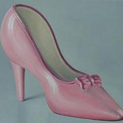 Schuh, Ölfarbe, a. LW, 50 x 70 cm