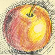 apple1, pencil, 9 x 9 cm