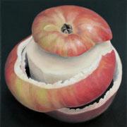 an apple a day 15, Ölfarbe auf LW,  20 x 20 cm
