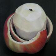 an apple a day 14, Ölfarbe auf LW,  20 x 20 cm