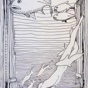 Unterwasserskizze1, Stift,  19 x 13