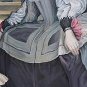 Das Chamäleon oder Les Ménines, Teil 4, Ölfarbe a. LW, 40 x 120 cm