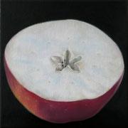 an apple a day 12, Ölfarbe auf LW,  20 x 20 cm