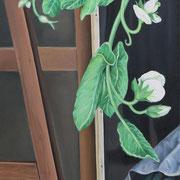Das Chamäleon oder Les Ménines, Teil 1, Ölfarbe a. LW, 40 x 120 cm