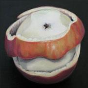 an apple a day 17, Ölfarbe auf LW,  20 x 20 cm
