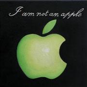 an apple a day 6, Ölfarbe auf LW,  20 x 20 cm
