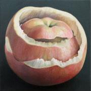 an apple a day 18, Ölfarbe auf LW,  20 x 20 cm