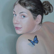 Butterfly, Ölfarbe a. LW,  60 x 50 cm