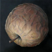 an apple a day 11, Ölfarbe auf LW,  20 x 20 cm