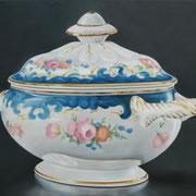 Zuckerdose Romantik, Ölfarbe a. LW, 60 x 80 cm