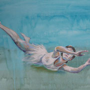 Wasserfrau5, Mixmedia 29 x 39 cm