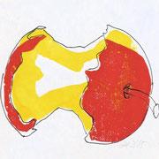 apple 6, prin/ink, 25 x 15 cm