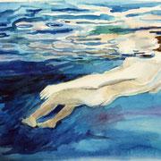 schweben, Pastell, 38 x 45 cm