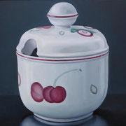 Zuckerdose 4, Ölfarbe a. LW, 60 x 80 cm