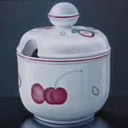 Zuckerdose 03, Ölfarbe a. LW, 60 x 80 cm