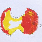 apple 8, prin/ink, 25 x 15 cm