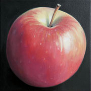 an apple a day 1, Ölfarbe auf LW,  20 x 20 cm