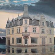das alte Haus, Ölfarbe auf LW, 80 x 100 cm